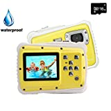 Kids Digital Camera, YTAT Underwater Digital Action Camera for Kids, Dust Proof Waterproof Camcorder with 16G SD card 5M CMOS for Children Boys Girls Gift Toys