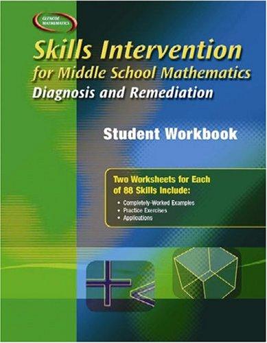 Skills Intervention for Middle School Mathematics: Diagnosis and Remediation, Student Workbook (MERRILL PRE-ALGEBRA)
