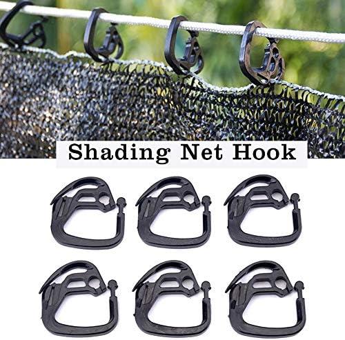 Niumen 100PCS Shade Net Hook, Hochfester Haltbarer Beweglicher Fester Clips-Halter Für Gewächshäuser Im Freien Gartenhof Hinterhofschattierung