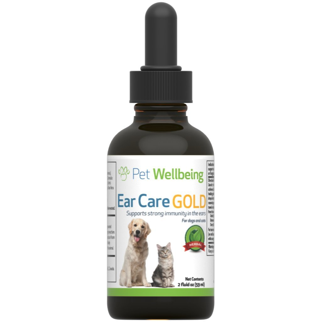 Pet Wellbeing - Ear Care Gold for Dogs - Ear Infection Support for Dogs - 2oz(59ml)