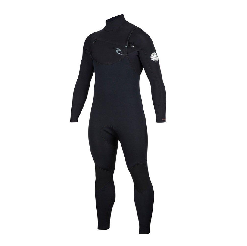 Rip Curl Dawn Patrol Chest Zip 4/3 Wetsuit, Black, Medium