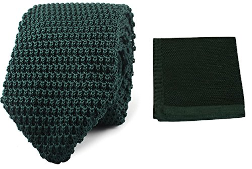 Fashion UK Green Set Hand L Knit Dark Hanky Tie amp;L® Men's Hankerchief Pointed Woven Knitted Made xIqwO1T
