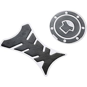 mtsooning de fibra de carbono combustible Gas Cap Cover Pad Sticker Decal para Honda CBR 600RR 1000RR