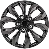 Pilot Automotive WH555-17GM-B Spyder/Gunmetal Grey 17 Inch Performance 17 in. Wheel Covers, 4
