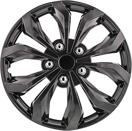 Pilot Automotive WH555-17GM-B Gunmetal Grey 17 Inch Spyder Performance 17 in. Wheel Covers, 4