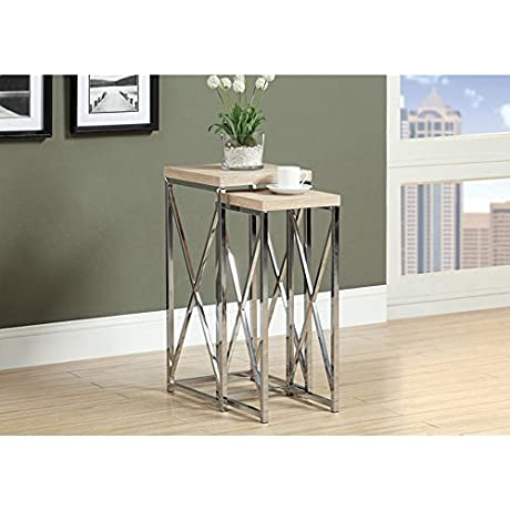 2 Piece Nesting Plant Stand Finish Natural