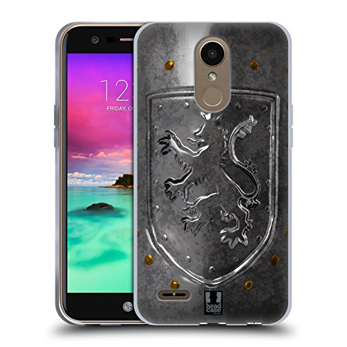 Head Case Designs Lionheart Shield Medieval Armory Soft Gel Case for LG K10 (2017) / K20 Plus (Lionheart Shield)