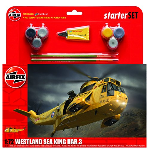 Airfix A55307 Westland Sea King Har.3 Military Plastic Model Kit Gift Set (1:72 Scale)