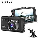 PROCUS Convoy Car Dash Camera, HD 1080P, 3' LCD Screen Video Recorder, 120° Wide Angle Lens, G-Sensor, Motion Detector, Loop Recorder, Support 32 GB