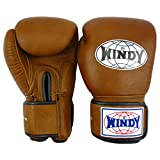 Auth Windy Muay Thai Gloves Kickboxing K1 Windy Boxing Gloves Leather Brown BGVH - 6,8,10,12,14,16,18 Oz (18oz)