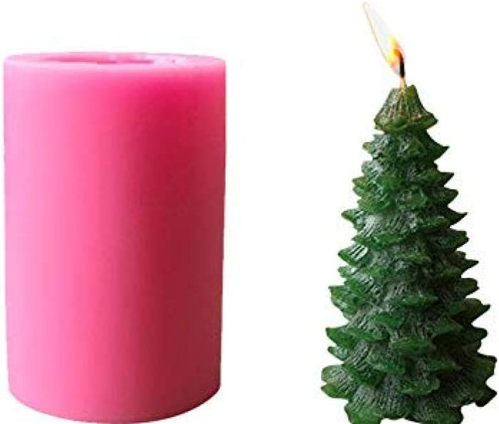 Xmas Pine Tree Silicone Soap Molds DIY Cake Decorating Candle Making Supplies 3D Christmas Tree Silicone Candle Mold for Candle Making