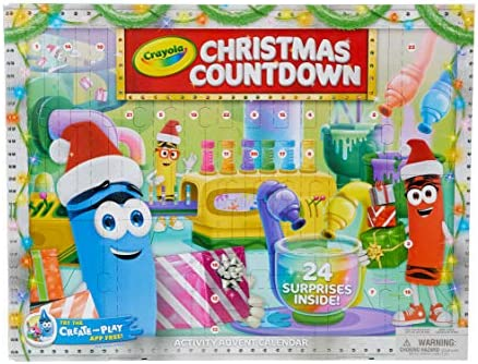 Crayola 크리스마스 카운트다운 캘린더 키즈 어드밴트 캘린더 24개의 홀리데이 크래프트 선물 / Crayola 크리스마스 카운트다운 캘린더 키즈 어드밴트 캘린더 24개의 홀리데이 크래프트 선물