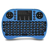 Rii i8+ Mini Wireless 2.4G Back Light Touchpad Keyboard with Mouse for PC/Mac/Android