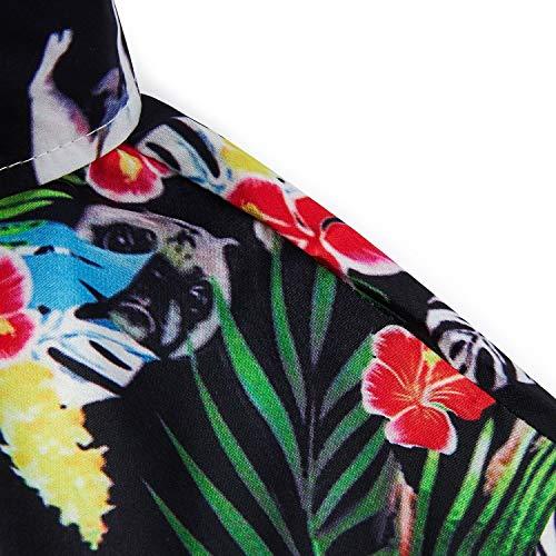 bce34317 Uideazone Men Summer Button Down 3D Printed Aloha Shirt Casual Short Sleeve Tropical  Beach Hawaiian Shirts