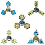 DMaos, LOL Legends Fidget Spinner Tri Spin Finger Games Hand Toy Smooth Metal Aluminum Stainless Steel Light Weight Bearing Crusader Ultra Durable EDC High Speed - Silver Trident