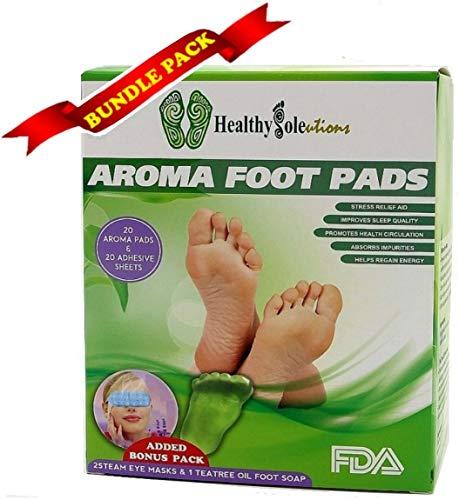 Bundle Pack: 20 Premium Aroma Foot Pads: All-Natural Cleansi