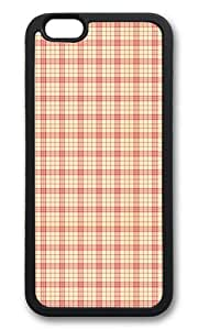 iPhone 6 Case,VUTTOO iPhone 6 Cover With Photo: Warm Colors Plaid For Apple iPhone 6 4.7Inch - TPU Black