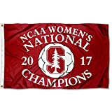 College Flags and Banners Co. Stanford Cardinal 2017 Women's Soccer Champions Flag
