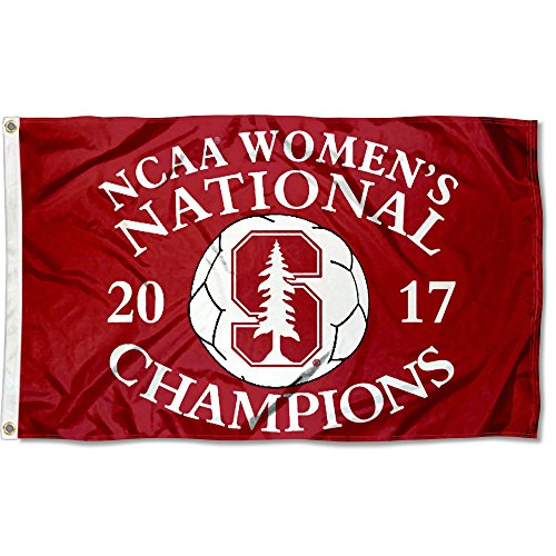 College Flags and Banners Co. Stanford Cardinal 2017 Women's Soccer Champions Flag by College Flags and Banners Co.