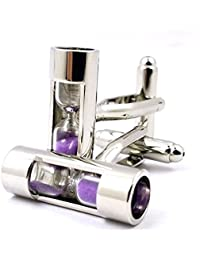 LBFEEL Real Hourglass Cufflinks for Men in 3 Colors with a Gift Box