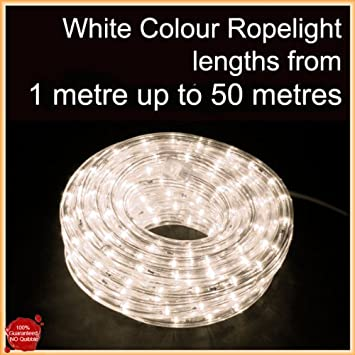 20 metre white outdoor ropelight decking rope light amazon 20 metre white outdoor ropelight decking rope light aloadofball Image collections