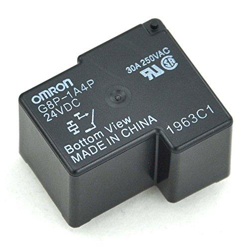 Electronics-Salon 2pcs G8P-1A4P 24VDC Power Relay, 30A 250VAC SPST-NO, 24V Coil.