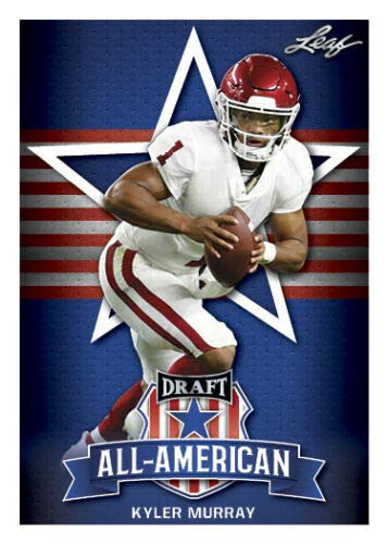 50 card lot x 2019 Leaf Draft Rookie (RC) KYLER MURRAY OKLAHOMA ALL AMERICAN INSERT Wholesale investment lot + BONUS free pack of 2018 Score Football (look for possible autographs, relics, Barkley and Mayfield RC) - all cards near mint+ from Leaf
