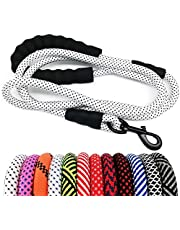MayPaw Heavy Duty Rope Dog Leash, 6 FT/8 FT Nylon Pet Leash, Soft Padded Handle Thick Lead Leash for Large Medium Dogs Small Puppy