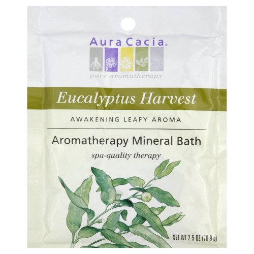 (Aura Cacia Clearing Eucalyptus Aromatherapy Mineral Bath Salt, 2.5 Ounce Packet - 6 per case.)