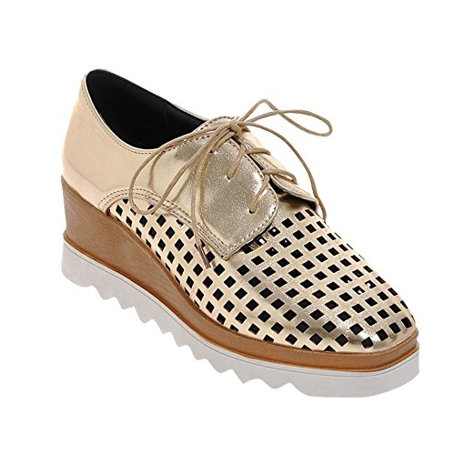 Wedges Women's Square Gold Toe Latasa Oxfords Summer d0ITwIqA