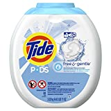 Tide PODS Free & Gentle Liquid Detergent Pacs, 81 Count, packaging may vary