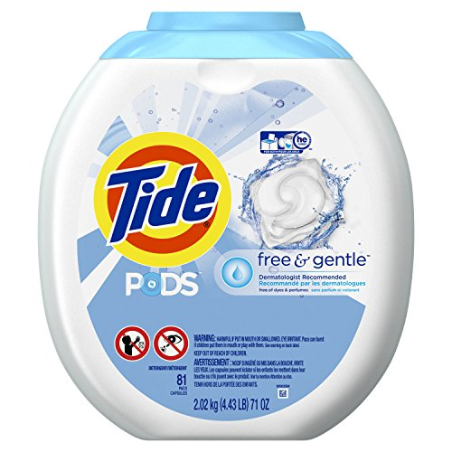 - Tide PODS Free & Gentle HE Turbo Laundry Detergent Pacs 81-load Tub