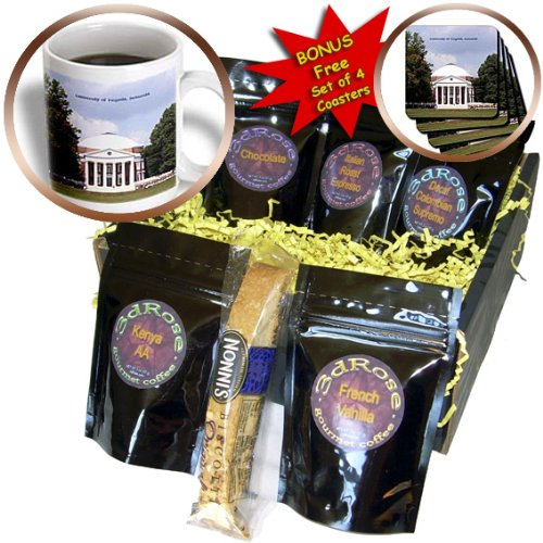 Sandy Mertens Virginia - University of Virginia, Rotunda - Coffee Gift Baskets - Coffee Gift Basket (cgb_55349_1)