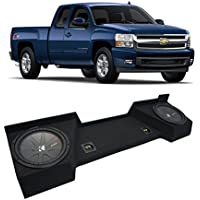 2007-2013 Chevy Silverado Ext Cab Truck Kicker CompR CWR12 Dual 12 Sub Box Enclosure - Final 2 Ohm