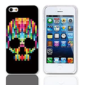 JAJAY Cool Skull Pattern Hard Case with 3-Pack Screen Protectors for iPhone 5/5S