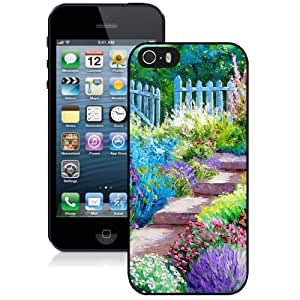 New Personalized Custom Designed For iPhone 5s Phone Case For Beautiful Garden Illustration Phone Case Cover