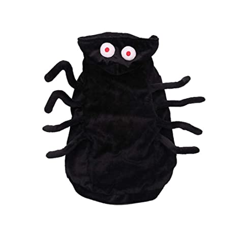 likeitwell Halloween Mascota Traje Negro araña arnés Traje para ...