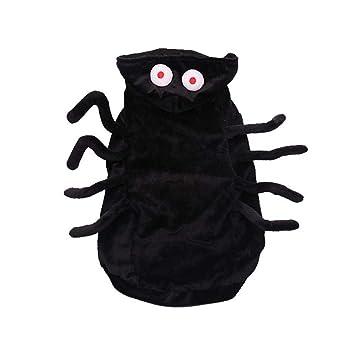 likeitwell Halloween Mascota Traje Negro araña arnés Traje para para Gatos Cachorro Chihuahua vestirse Fiesta Navidad Pascua Fiesta Festival Actividad Ropa: ...