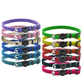 OFPUPPY Whelping Litter ID Collars Breakaway for Puppy Kitten - Velvet Safety Identification Collars - for Newborn Pets with Record Keeping Charts