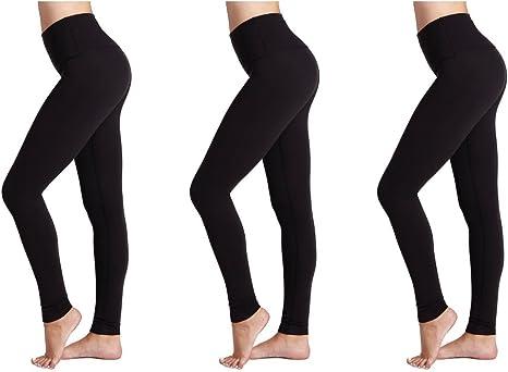 FM London 3-Pack Opaque Women/'s Leggings Modern and Versatile Slim