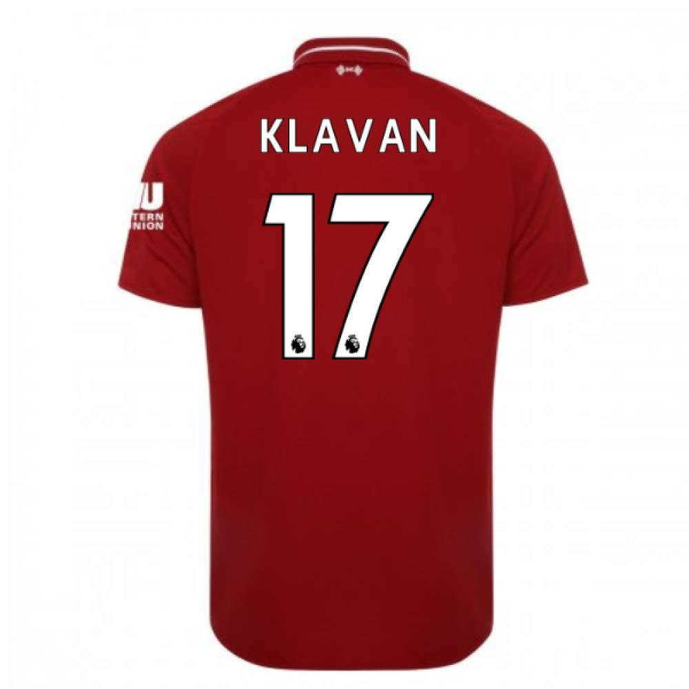2018-2019 Liverpool Home Football Soccer T-Shirt Trikot (Ragnar Klavan 17)