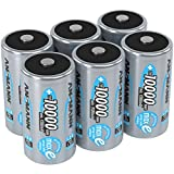 Ansmann 5030642-590-1 ANSMANN Rechargeable D Batteries 10.000mAh maxE ready2use NiMH Professional D Battery pre-charged Power Accu for flashlight (6-Pack)