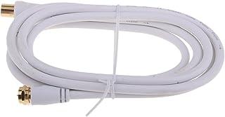 MagiDeal Téléviseur Coaxial 9mm Mâle Au Câble D'antenne Mâle De Type Tv F - type tv f