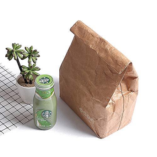 Lunch Bag Box Cooler Bag Insulated Retro Style Set for Girls Kids Women Adults Boys Breastmilk Reusble Paper Leakproof Environmental Tyvek Handle Bag Go Work Picnic Shool