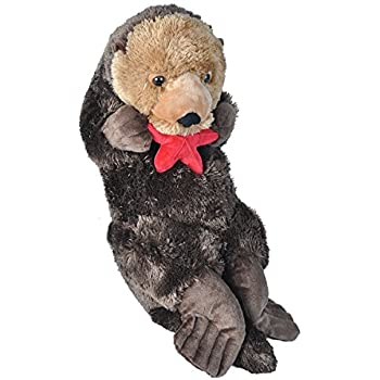 Amazon Com Wild Republic Jumbo Sea Otter Plush Giant Stuffed