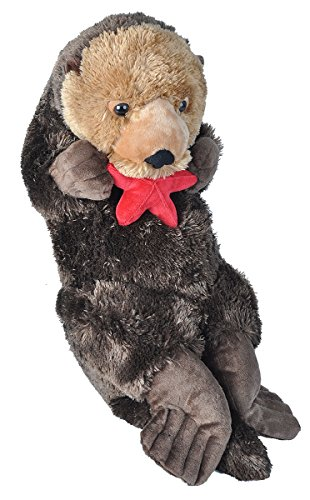 Wild Republic Jumbo Sea Otter Plush, Giant Stuffed Animal, Plush Toy, Gifts for Kids, 30 Inches