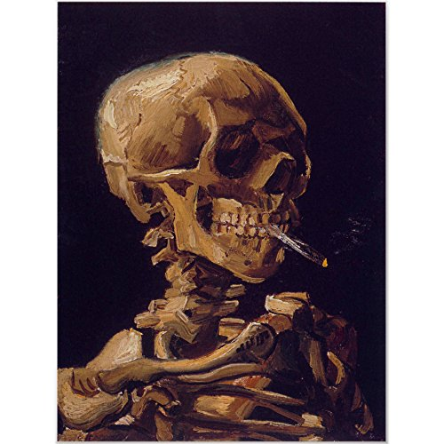 Van Gogh's 'Skull with a Burning Cigarette' Poster 20 x 24inch(Unframed)