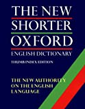 The New Shorter Oxford English Dictionary: With Thumb Index (2 Volume Set)