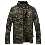 Mens Camouflage Bomber Jackets Army Military Camo Jacket Flight Pilot Coat