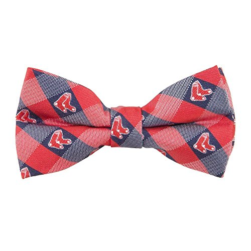 Boston Red Sox Checked Logo Bow Tie - MLB Baseball Team Logo